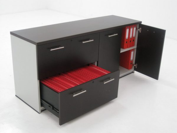 Credenzas Modernas Oficina : Credenza baja de melamina estilo oficina