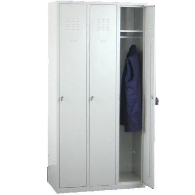 Locker metálico de tres puertas