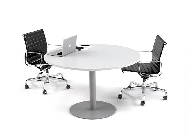 Mesa de reuniones redonda para 2 sillas