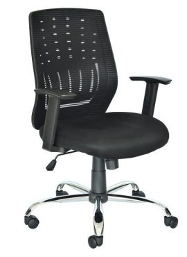 Silla giratoria Bill color negro
