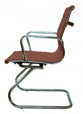 Silla bishop trineo color café