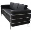 Sofá Bronco con tres asientos para oficina color negro
